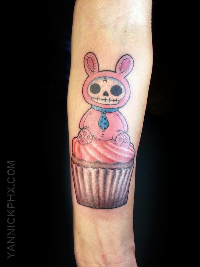 lapin bunny cupcake tattoo yannick phx